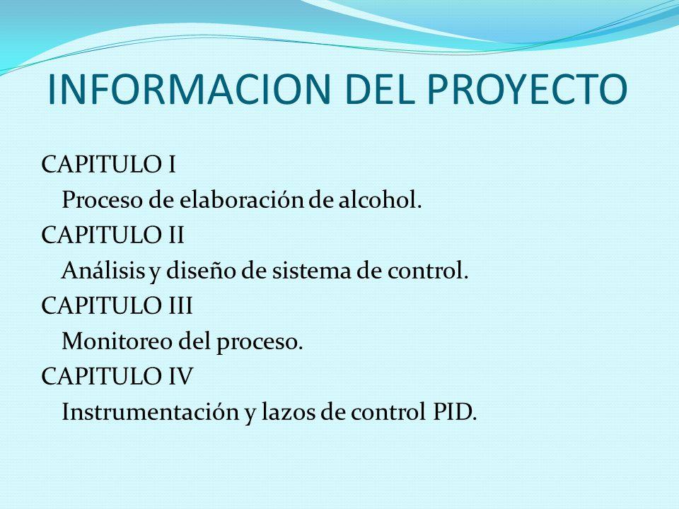 CAPITULO I DESCRIPCION DEL PROCESO PARA ELABORAR ALCOHOL