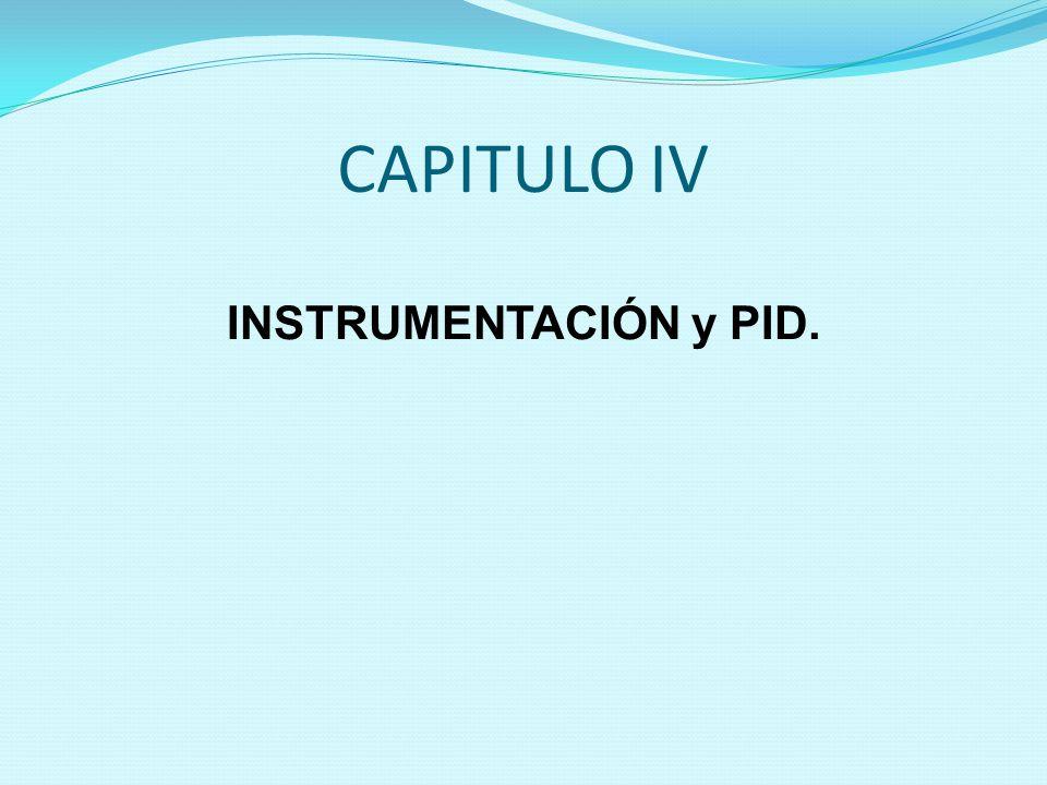 CAPITULO IV INSTRUMENTACIÓN y PID.