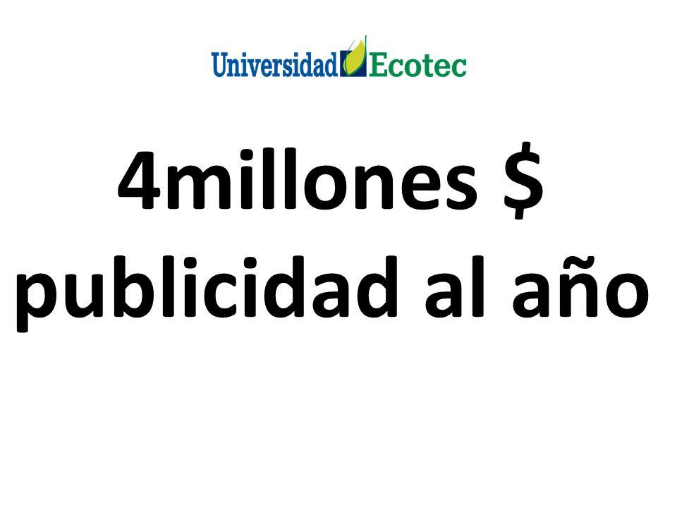 4millones $ publicidad al año