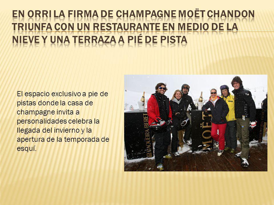 El espacio exclusivo a pie de pistas donde la casa de champagne invita a personalidades celebra la llegada del invierno y la apertura de la temporada