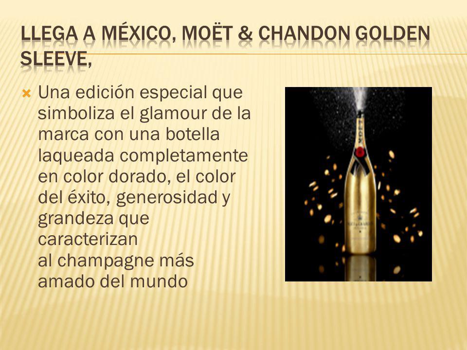 Una edición especial que simboliza el glamour de la marca con una botella laqueada completamente en color dorado, el color del éxito, generosidad y gr