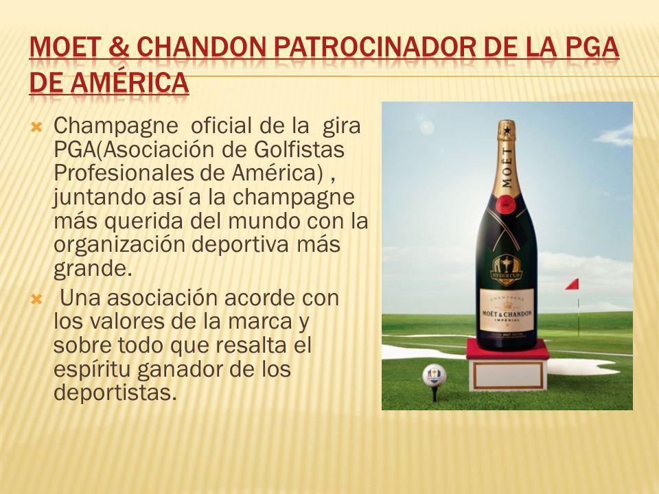 Champagne oficial de la gira PGA(Asociación de Golfistas Profesionales de América), juntando así a la champagne más querida del mundo con la organizac