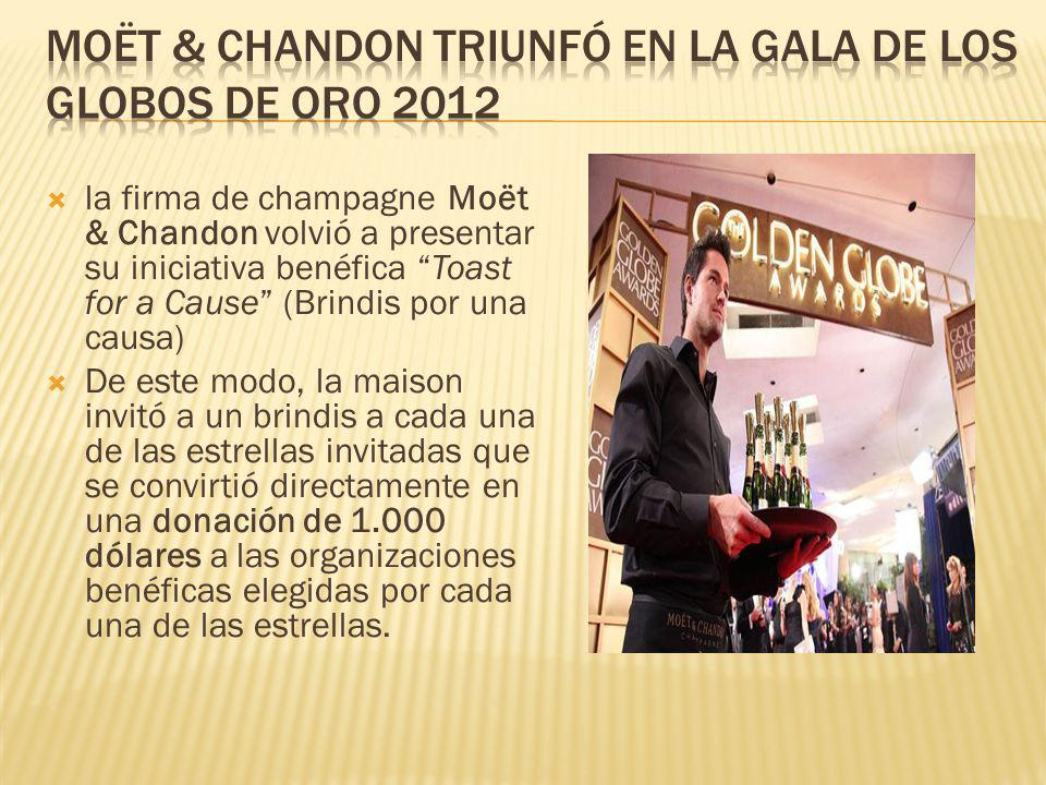 la firma de champagne Moët & Chandon volvió a presentar su iniciativa benéfica Toast for a Cause (Brindis por una causa) De este modo, la maison invit