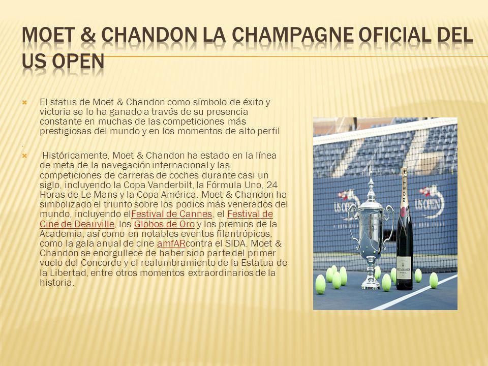 El status de Moet & Chandon como símbolo de éxito y victoria se lo ha ganado a través de su presencia constante en muchas de las competiciones más pre