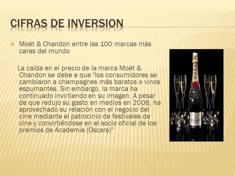 Moët & Chandon entre las 100 marcas más caras del mundo La caída en el precio de la marca Moët & Chandon se debe a que