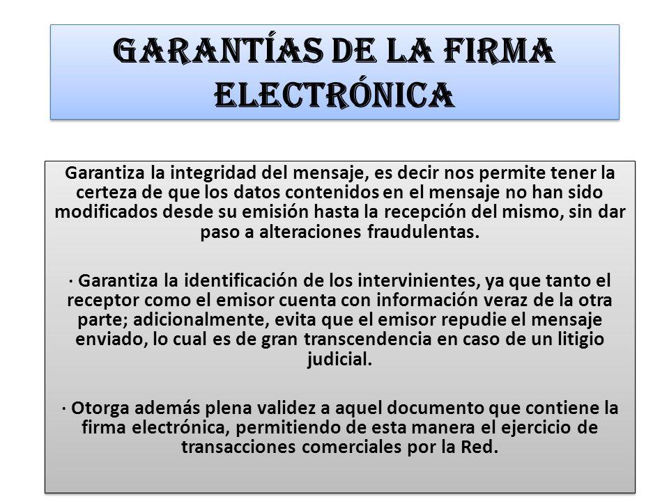Funcionamiento de la Firma Electrónica La firma electrónica puede emplearse en todo tipo de documentos, así como en el comercio electrónico entre particulares, declaraciones tributarias, emisión de certificados de Compañías o de bienes, licitaciones públicas, etc.