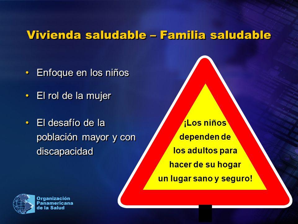 Organización Panamericana de la Salud Vivienda saludable – Familia saludable Enfoque en los niños El rol de la mujer El desafío de la población mayor