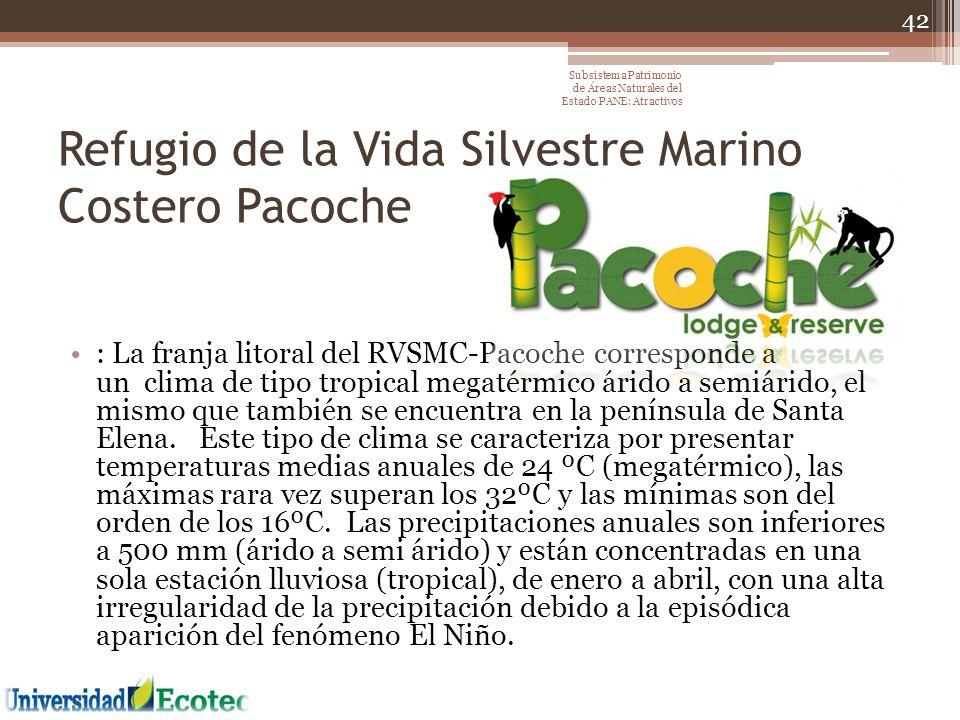 Refugio de la Vida Silvestre Marino Costero Pacoche : La franja litoral del RVSMC-Pacoche corresponde a un clima de tipo tropical megatérmico árido a