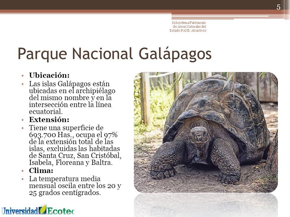Área Nacional de Recreación Parque- Lago Paseos en Caballo Cuenca del Río Chongón Manglares Gastronomía 36 Subsistema Patrimonio de Áreas Naturales del Estado PANE: Atractivos