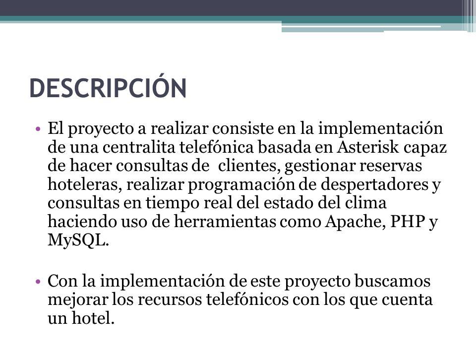 Diseño e Implementación de un Sistema de Gestión Telefónica Automática para Negocios Hoteleros Presentado por: Lenin Isaías Escobar Mendoza Freddy Javier Garnica Arroba