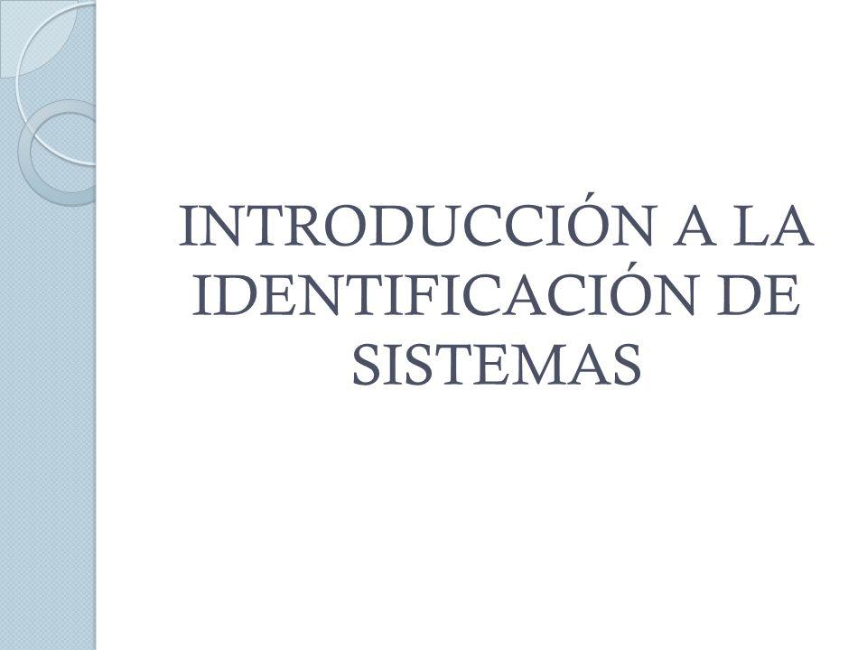 Señales de entrada y salida utilizadas en la identificación