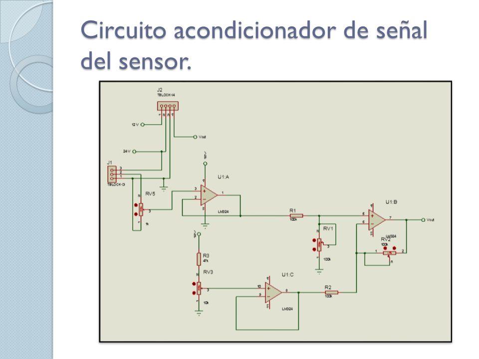 Circuito acondicionador de señal del sensor.