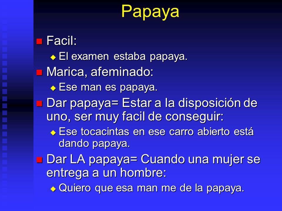 Papaya Facil: Facil: El examen estaba papaya.El examen estaba papaya.