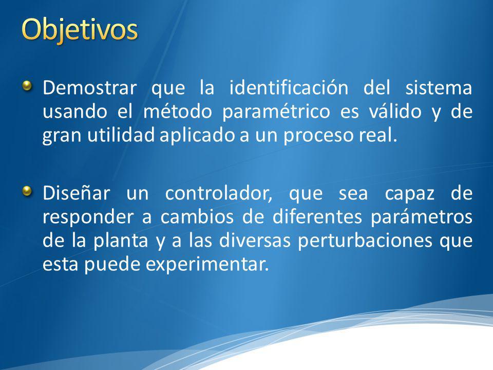 Demostrar que la identificación del sistema usando el método paramétrico es válido y de gran utilidad aplicado a un proceso real.