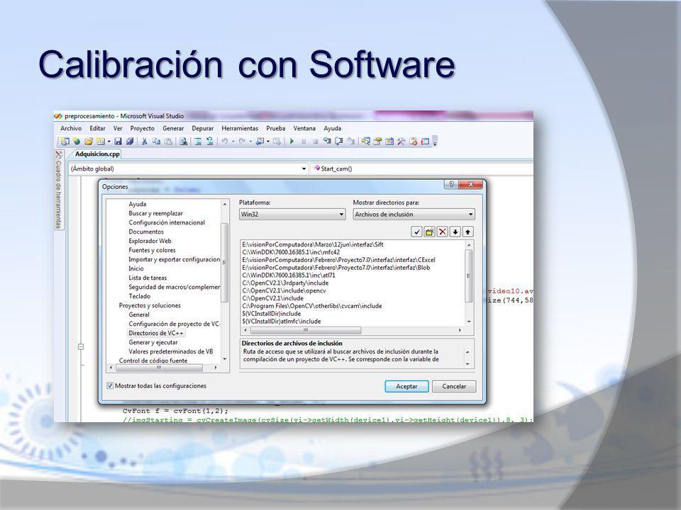 Calibración con Software