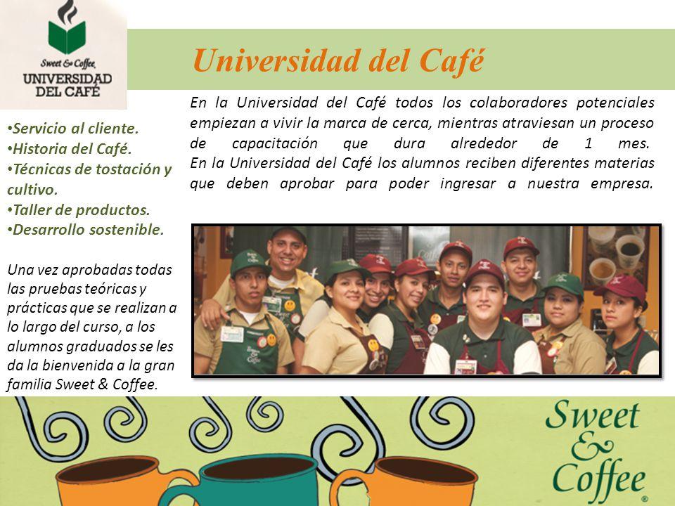 Universidad del Café En la Universidad del Café todos los colaboradores potenciales empiezan a vivir la marca de cerca, mientras atraviesan un proceso