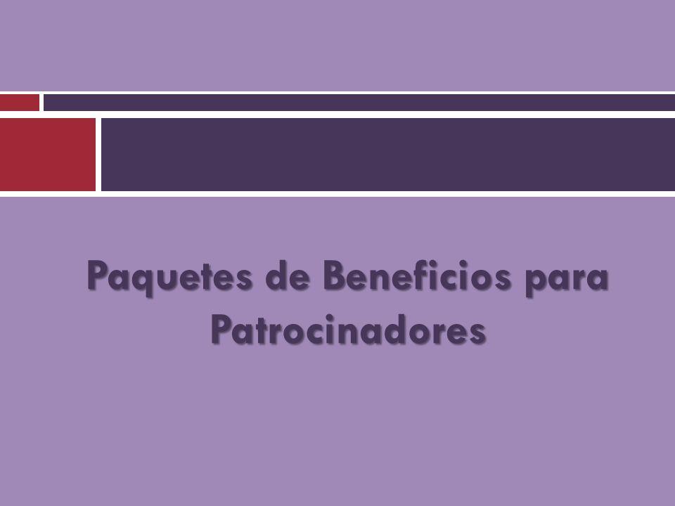 Paquetes de Beneficios para Patrocinadores