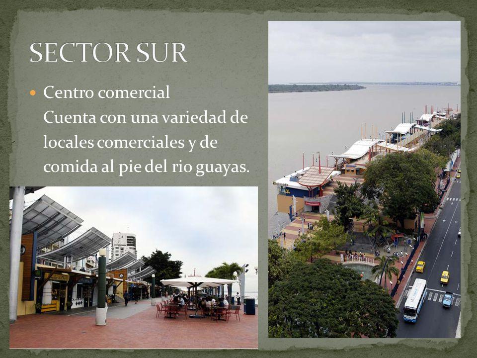 Centro comercial Cuenta con una variedad de locales comerciales y de comida al pie del rio guayas.