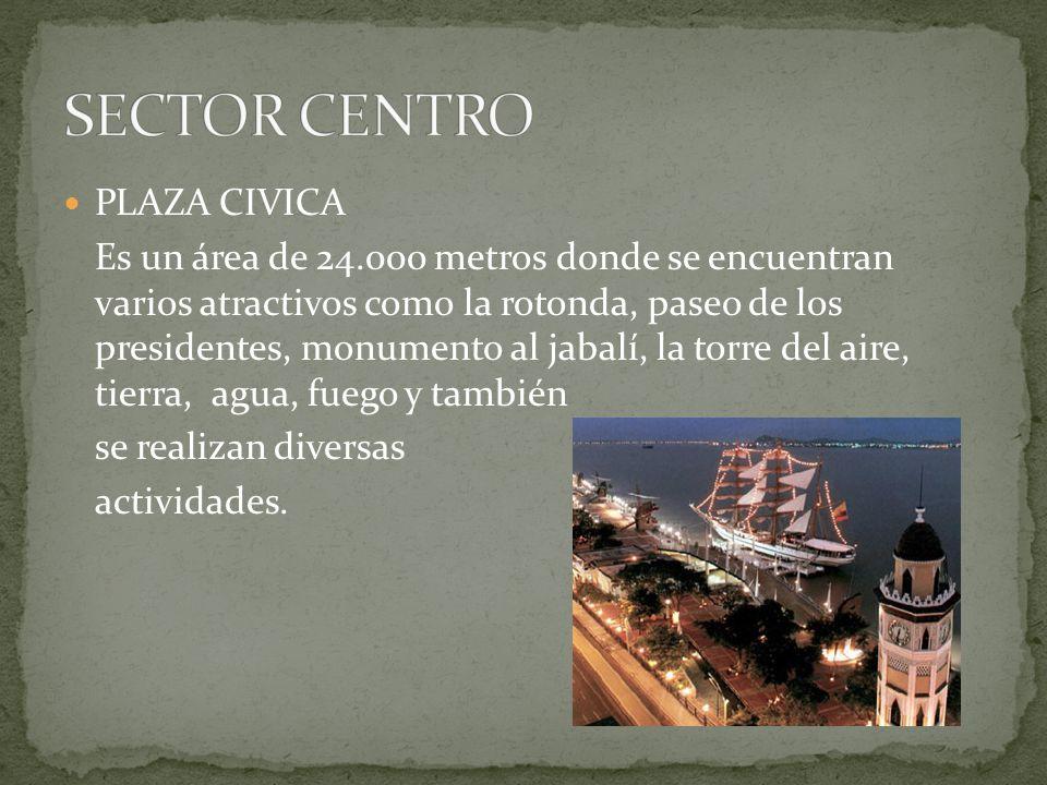 PLAZA CIVICA Es un área de 24.000 metros donde se encuentran varios atractivos como la rotonda, paseo de los presidentes, monumento al jabalí, la torr