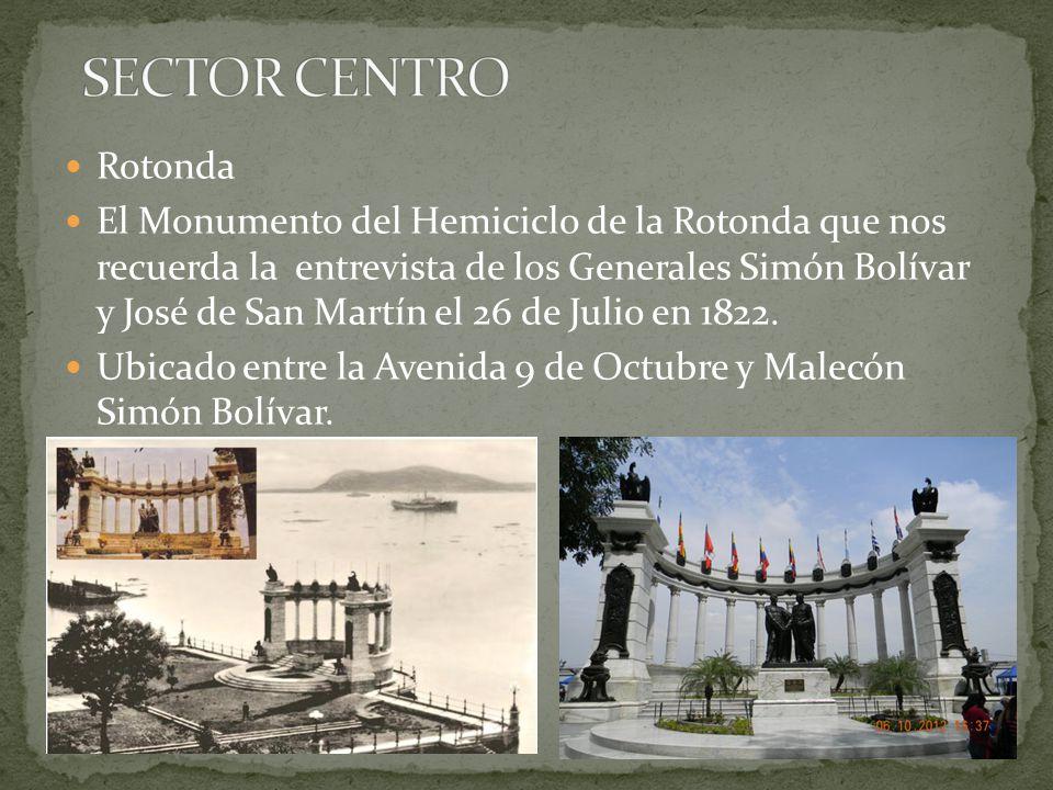 Rotonda El Monumento del Hemiciclo de la Rotonda que nos recuerda la entrevista de los Generales Simón Bolívar y José de San Martín el 26 de Julio en