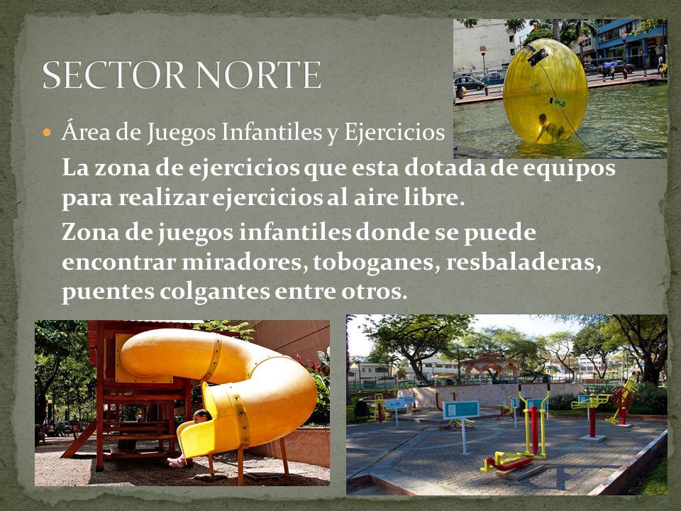 Área de Juegos Infantiles y Ejercicios La zona de ejercicios que esta dotada de equipos para realizar ejercicios al aire libre. Zona de juegos infanti