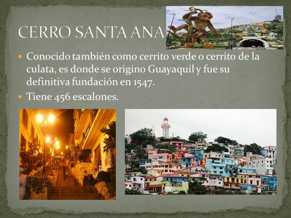 Conocido también como cerrito verde o cerrito de la culata, es donde se origino Guayaquil y fue su definitiva fundación en 1547. Tiene 456 escalones.