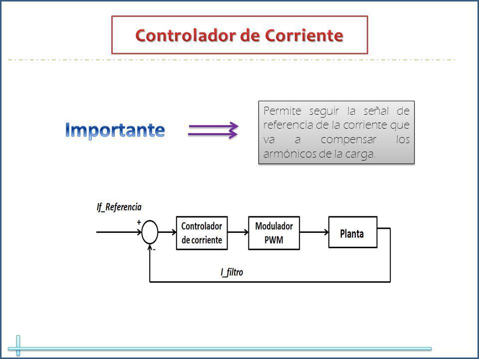 Permite seguir la señal de referencia de la corriente que va a compensar los armónicos de la carga.