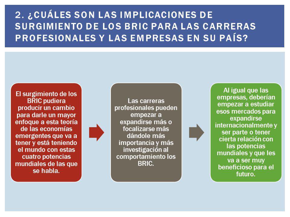 No, yo creo que no se pone en duda el potencial que los BRIC tienen, aunque después de esta teoría, se le ha puesto más énfasis o mas estudio a los movimientos y al crecimiento de los países pertenecientes al BRIC.