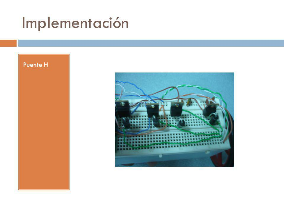 Implementación Puente H