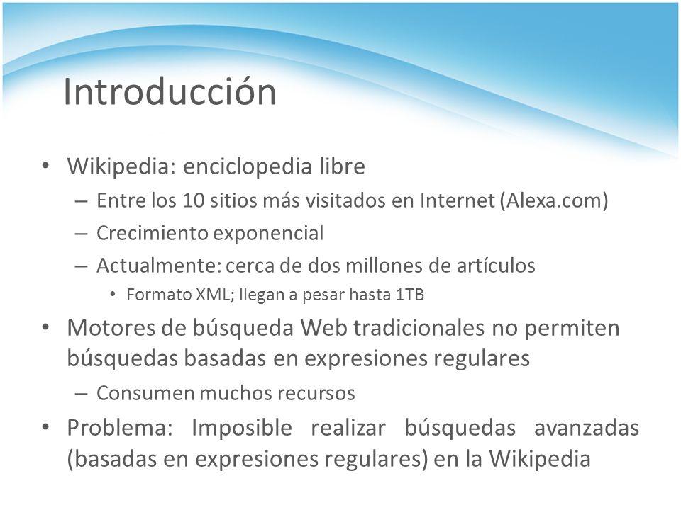 Introducción Wikipedia: enciclopedia libre – Entre los 10 sitios más visitados en Internet (Alexa.com) – Crecimiento exponencial – Actualmente: cerca