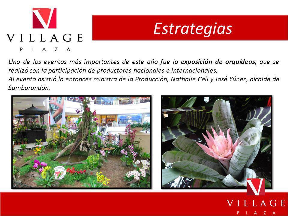 Estrategias Uno de los eventos más importantes de este año fue la exposición de orquídeas, que se realizó con la participación de productores nacional