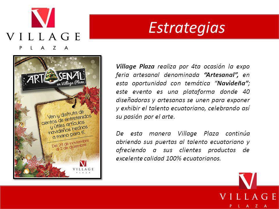Estrategias Village Plaza realiza por 4ta ocasión la expo feria artesanal denominada Artesanal, en esta oportunidad con temática Navideña; este evento