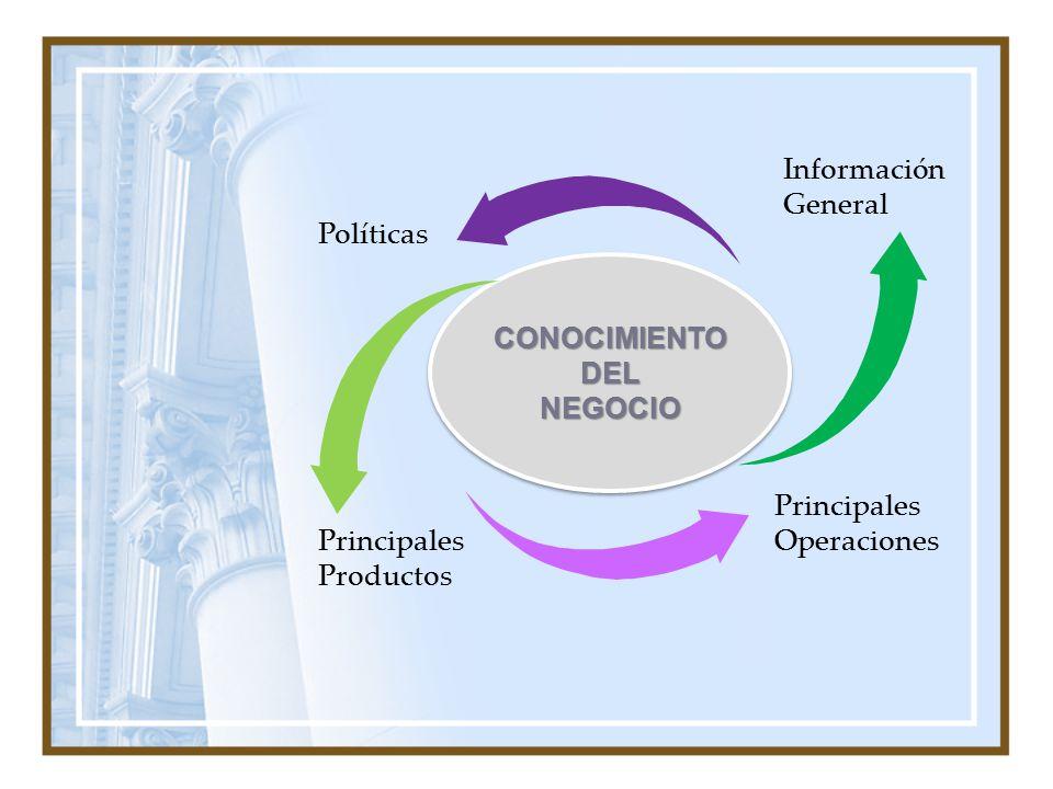 CONOCIMIENTO DEL NEGOCIO NEGOCIO Información General Políticas Principales Productos Principales Operaciones