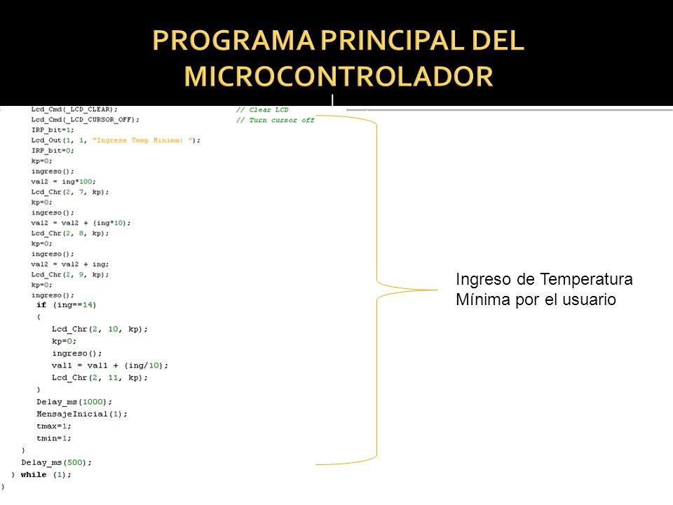 Resetn Ingreso de Temperatura Mínima por el usuario