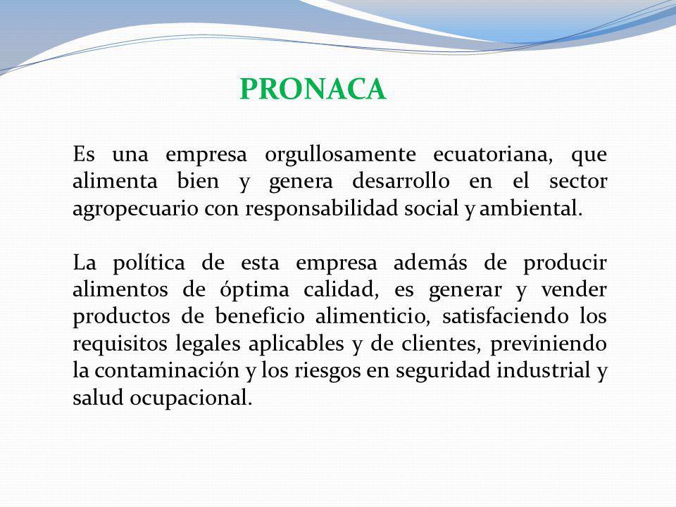 Es una empresa orgullosamente ecuatoriana, que alimenta bien y genera desarrollo en el sector agropecuario con responsabilidad social y ambiental. La