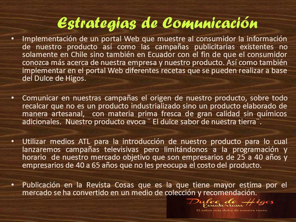 Implementación de un portal Web que muestre al consumidor la información de nuestro producto así como las campañas publicitarias existentes no solamen