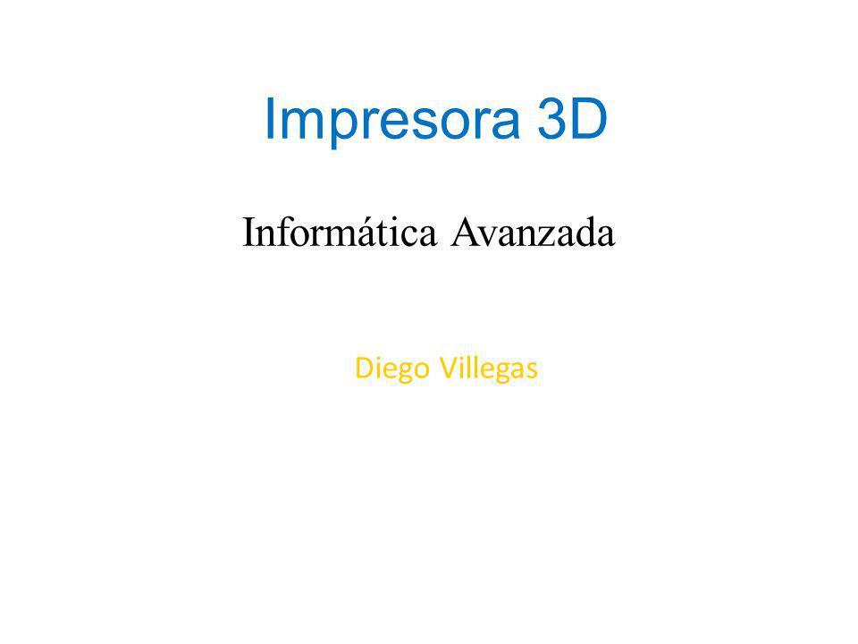 Impresora 3D Una impresora 3D es una máquina capaz de realizar impresiones de diseños en 3D, creando piezas o maquetas volumétricas a partir de un diseño hecho por ordenador.