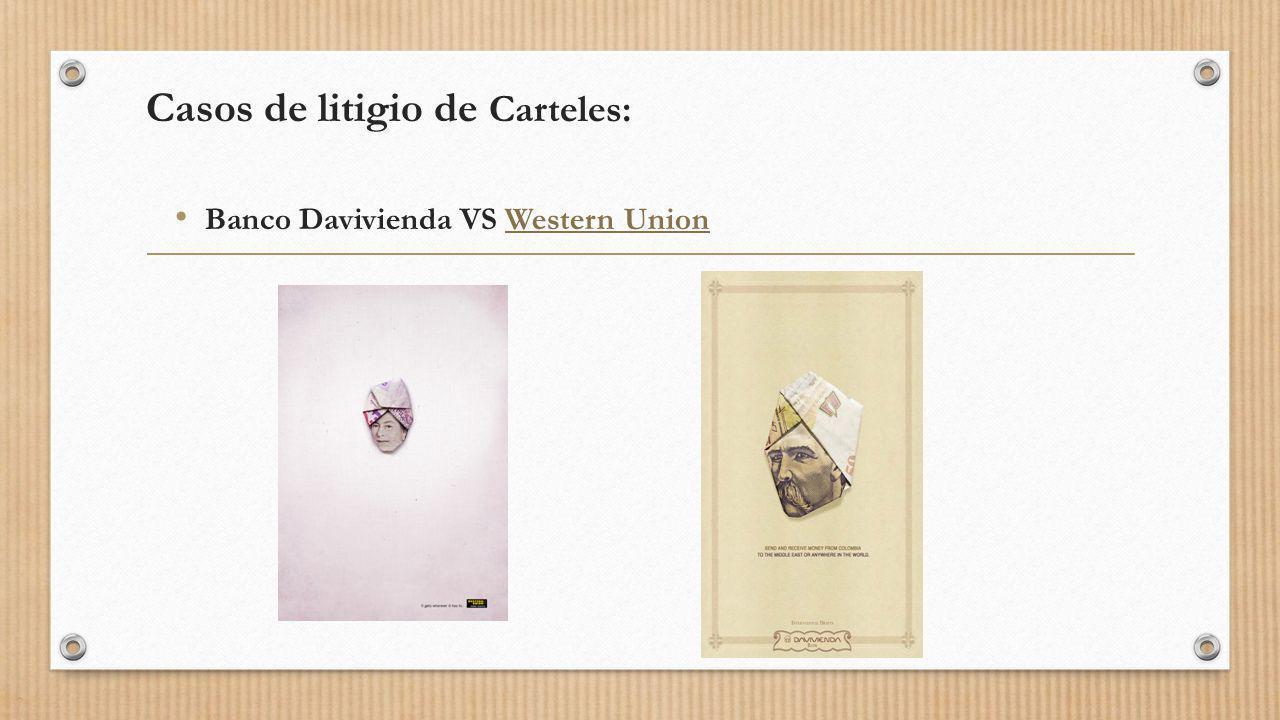 Casos de litigio de Carteles: Banco Davivienda VS Western UnionWestern Union
