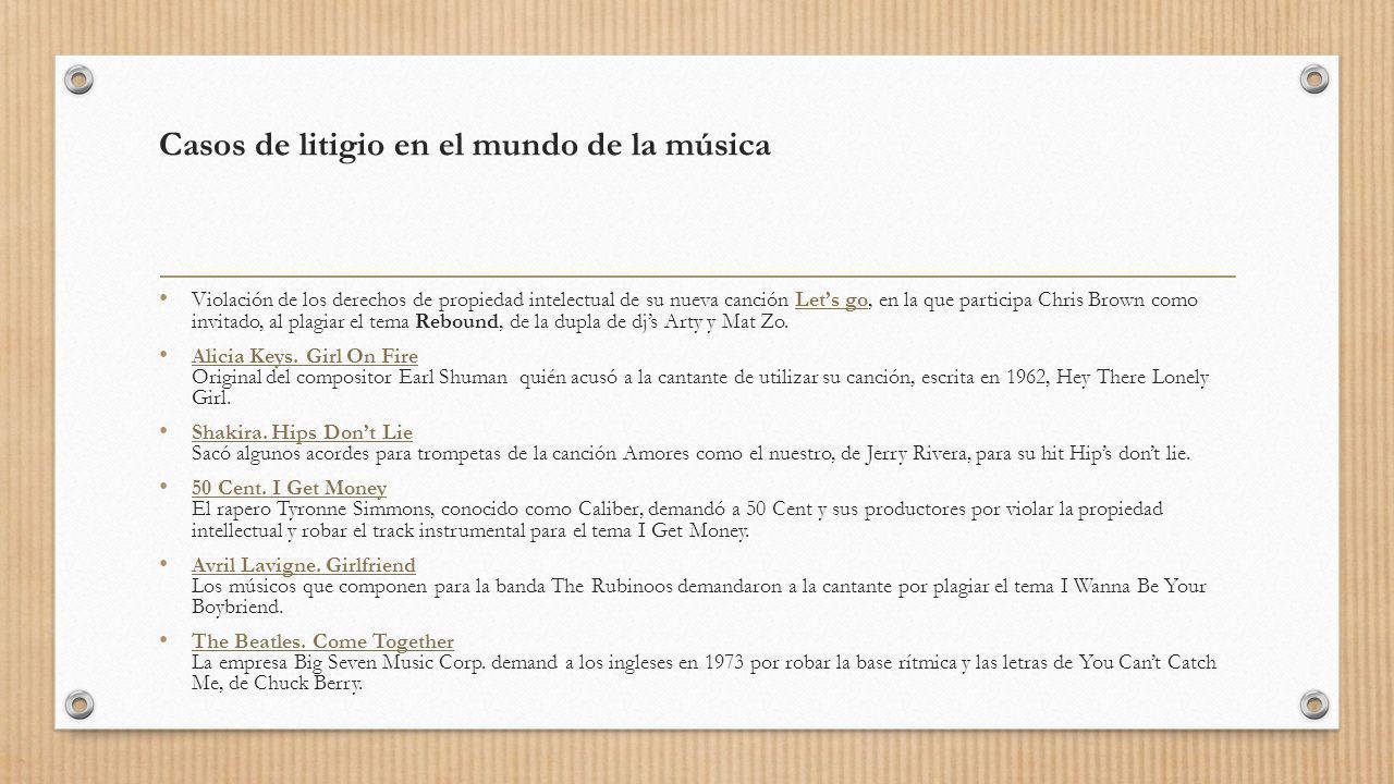 Casos de litigio en el mundo de la música Violación de los derechos de propiedad intelectual de su nueva canción Lets go, en la que participa Chris Br