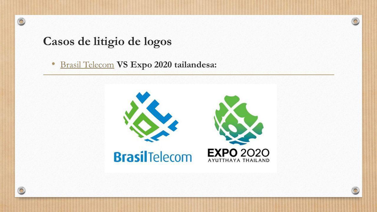 Casos de litigio de logos Brasil Telecom VS Expo 2020 tailandesa: Brasil Telecom
