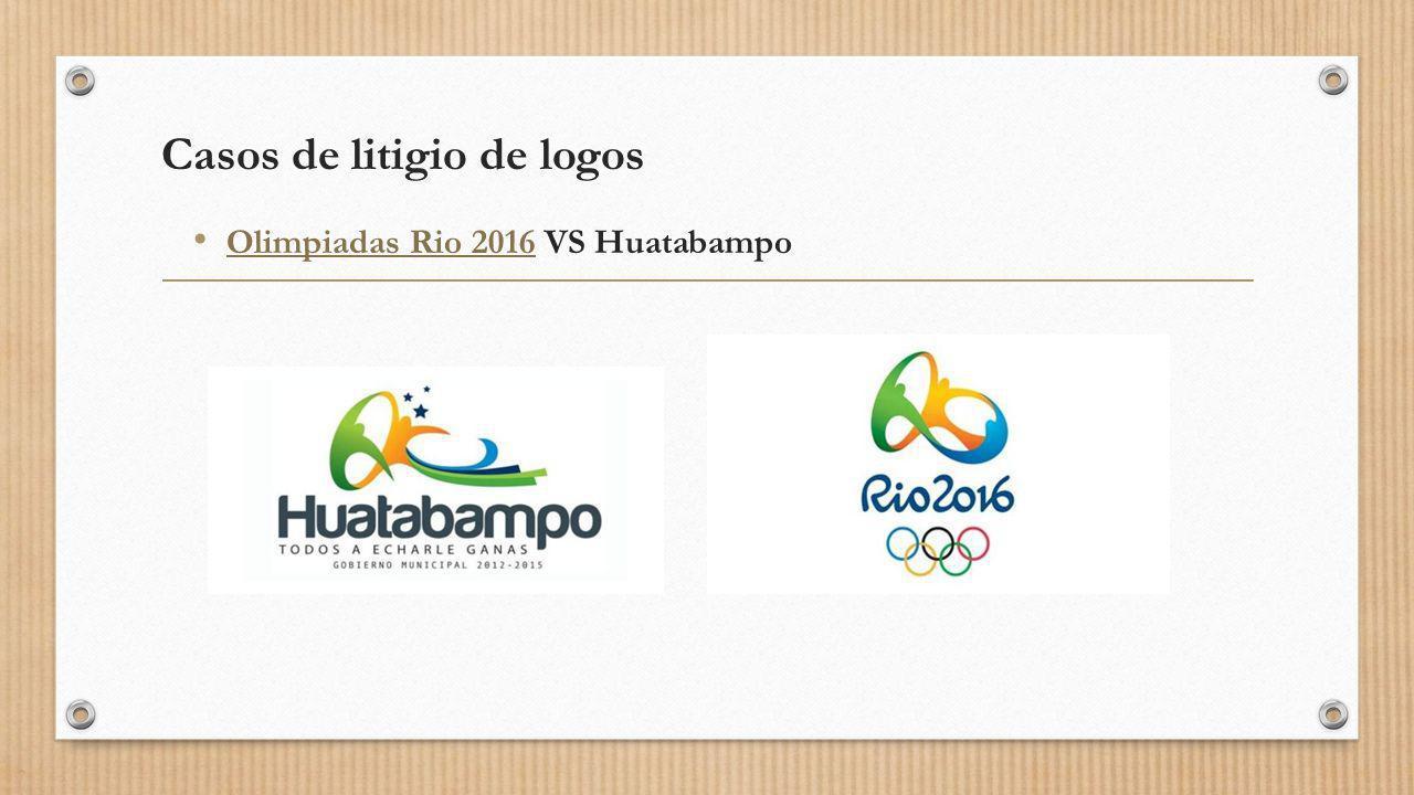 Casos de litigio de logos Olimpiadas Rio 2016 VS Huatabampo Olimpiadas Rio 2016