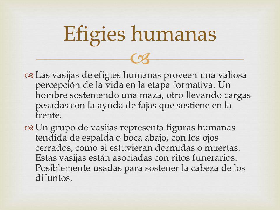 Las vasijas de efigies humanas proveen una valiosa percepción de la vida en la etapa formativa.