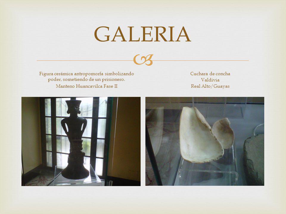 GALERIA Figura cerámica antropomorfa simbolizando poder, sometiendo de un prisionero.