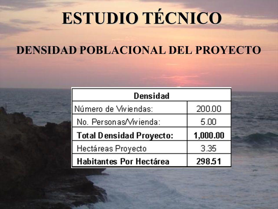 DENSIDAD POBLACIONAL DEL PROYECTO ESTUDIO TÉCNICO