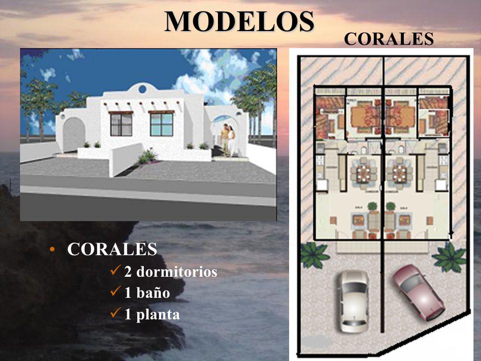 CORALES 2 dormitorios 1 baño 1 planta CORALES MODELOS MODELOS