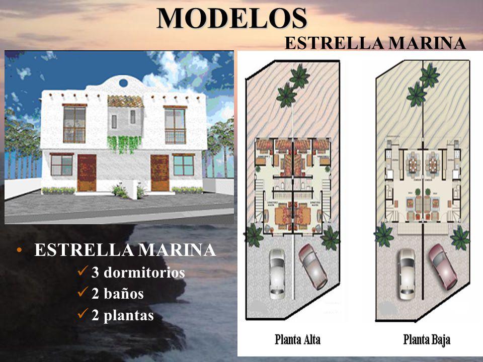 ESTRELLA MARINA 3 dormitorios 2 baños 2 plantas MODELOS MODELOS ESTRELLA MARINA