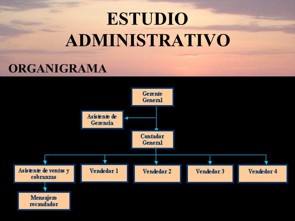 ESTUDIO ADMINISTRATIVO ORGANIGRAMA