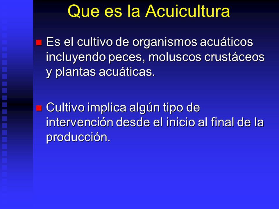 Que es la Acuicultura Es el cultivo de organismos acuáticos incluyendo peces, moluscos crustáceos y plantas acuáticas. Es el cultivo de organismos acu