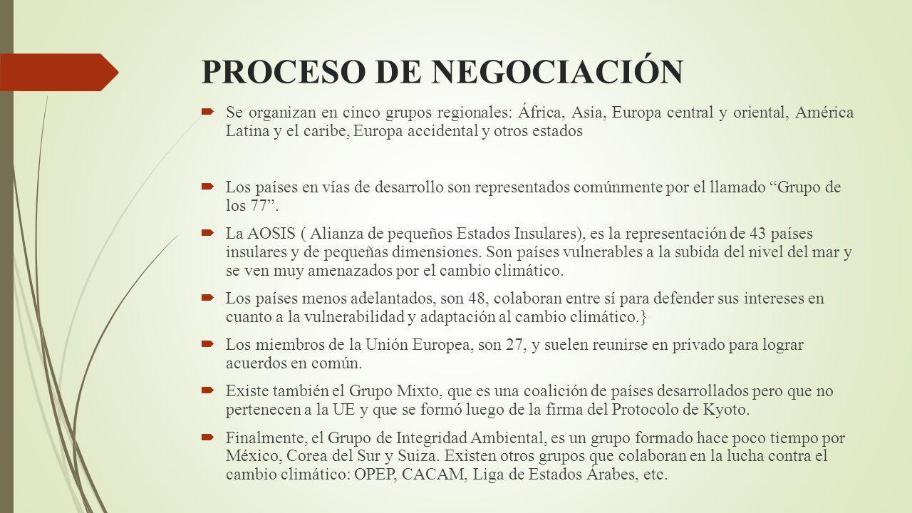 CONFERENCIA DE LAS PARTES Este es el órgano máximo de la Convención y es quien tiene el poder de decisión.