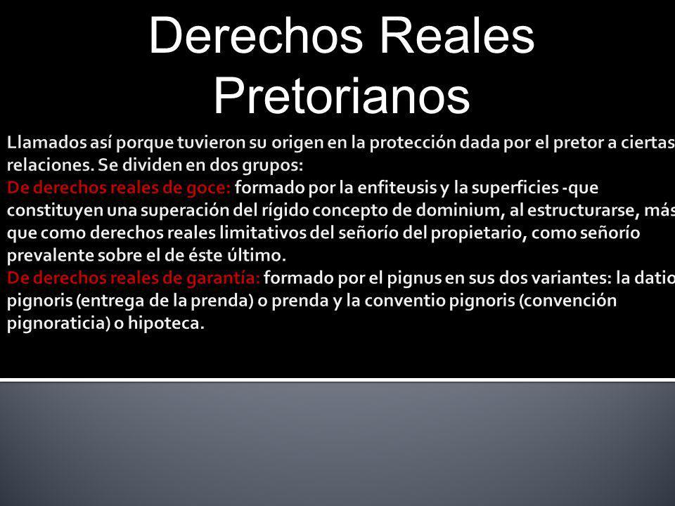 Derechos Reales Pretorianos